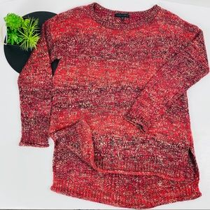Sanctuary Red Marled Cable Kinit back Sweater Sml